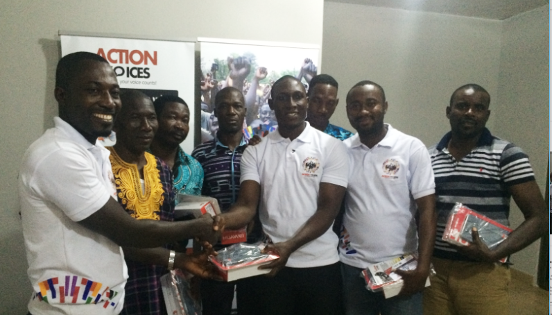 ACTION VOICES DONATES TABLETS TO ASSEMBLY MEMBERS